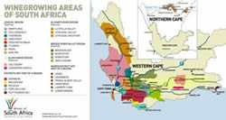 South African Wine Regions and Vineyard Maps